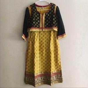 Kashish Yellow Churidar Kurta with Vest Size Small